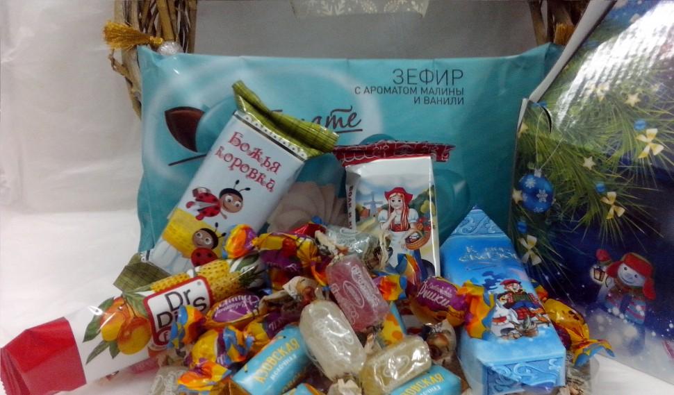 Новогодние сладкие подарки вк 65