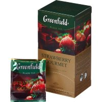 Чай черный Strawberry Gourmet Greenfield 25пак